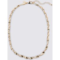 M&S Collection Gold Plated Twist Sparkle Rope Necklace