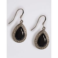 M&S Collection Pave Pear Drop Earrings