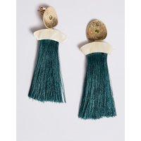 M&S Collection Stone Tassel Drop Earrings