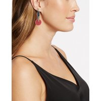 M&S Collection Resin Circular Drop Earrings