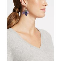 M&S Collection Cluster Petal Drop Earrings