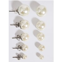 M&S Collection Pearl Effect Stud Earrings Set.