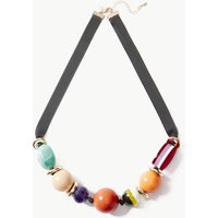 M&S Collection Ball Ribbon Collar Necklace