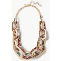 M&S Collection Speckled Double Link Necklace
