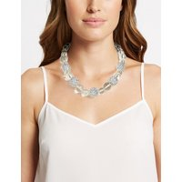 M&S Collection Clear Glitter Balls Necklace