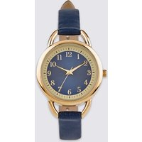 MandS Collection Round Face Strap Watch