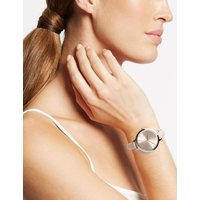 M&S Collection Round Face Case Strap Watch