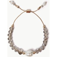 M&s Collection Glass Pearl Effect Bead Bracelet