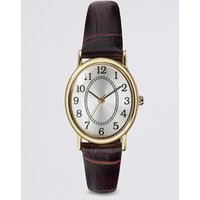 M&S Collection Oval Face Classic Strap Watch.