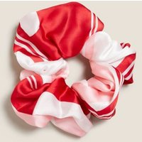 M&S Womens Oversized Printed Satin Scrunchie - 1SIZE - Natural Mix, Natural Mix,Pink Mix