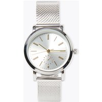 M&S Collection Round Face Mesh Watch