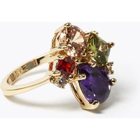 M&S Collection Gold Plated Gem Cluster Ring