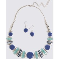M&S Collection Horizon Shapes Necklace & Earrings Set