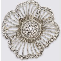 M&S Collection Crystal Flower Brooch