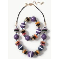 MandS Collection Resin Necklace and Bracelet Set