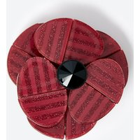 M&S Collection Large Resin Poppy Brooch
