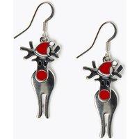 M&S Collection Reindeer Drop Earrings
