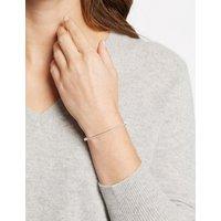 M&S Collection Sterling Silver Pave Bangle Bracelet