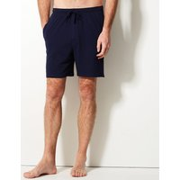M&s Collection 2 Pack Pure Cotton Stay Soft Pyjama Shorts