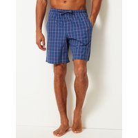 M&s Collection 2 Pack Pure Cotton Checked Shorts