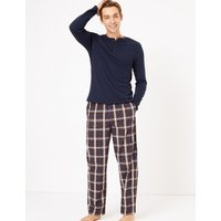 M&s Collection 2 Pack Pure Cotton Printed Pyjama Bottoms