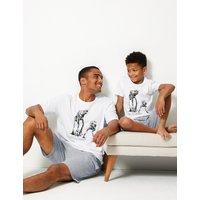 M&S Collection Star Wars Print Pyjama Shorts Set
