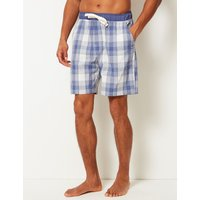 M&S Collection 2in Longer Pure Cotton Checked Shorts