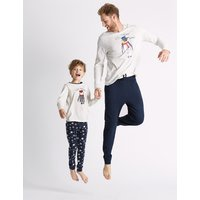 M&S Collection King Penguin Print Pyjama Set
