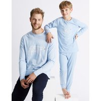 M&S Collection Big Bear Print Pyjama Set