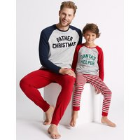 M&S Collection Father Christmas Slogan Pyjama Set