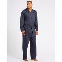 M&S Collection Pure Cotton Printed Pyjama Set