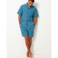 M&S Collection 2in Longer Pure Cotton Pyjama Shorts Set