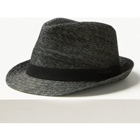 M&S Collection Textured Trilby Hat