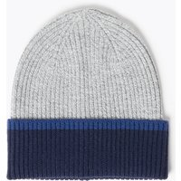 M&S Collection Colour Block Beanie Hat