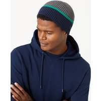 M&S Collection Striped Colour Block Beanie Hat
