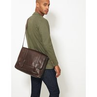 MandS Collection Casual Leather Messenger