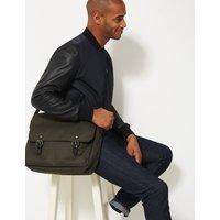 MandS Collection Scuff Resistant Cordura Messenger Bag