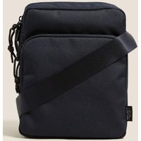 M&S Mens Recycled Polyester Pro-Tecttm Cross Body Bag - 1SIZE - Navy, Navy,Black