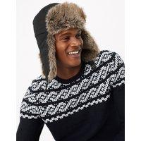 MandS Collection Faux Fur Trapper Hat