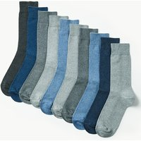 M&S Collection 10 Pack Cool & Freshfeet Cotton Rich Socks