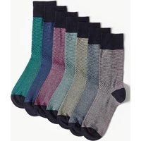 M&S Collection 7 Pack Cotton Rich Cool & Fresh Socks