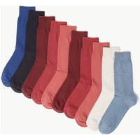 M&s Collection 10 Pack Cool & Fresh Cotton Socks