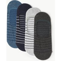 M&S Collection 4 Pack Cool & Freshfeet Striped Shoe Liners
