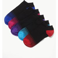 M&S Collection 5 Pack Cool & Freshfeet Trainer Liner Socks