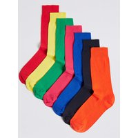 M&S Collection 7 Pack Bright Freshfeet Socks