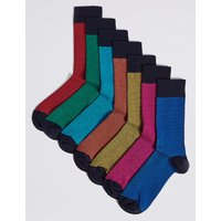M&S Collection 7 Pack Cool & Freshfeet Assorted Socks