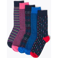 M&S Collection 5 Pack Cool & Fresh Assorted Socks