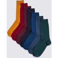 M&S Collection 7 Pack Cool & Freshfeet Cotton Rich Socks