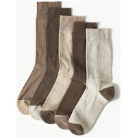 M&S Collection 5 Pack Cotton Rich Cool & Fresh Socks