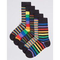M&S Collection 5 Pack Cotton Rich Cool & Freshfeet Socks